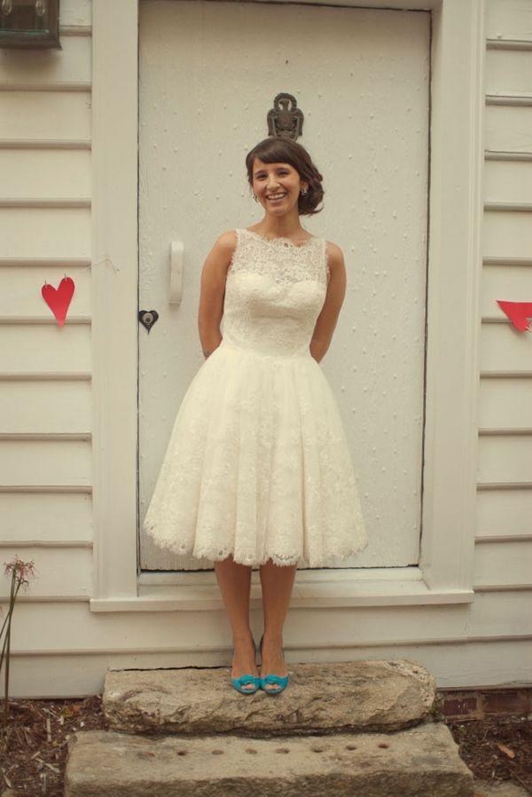Shoes for a Tea Length Wedding Dress