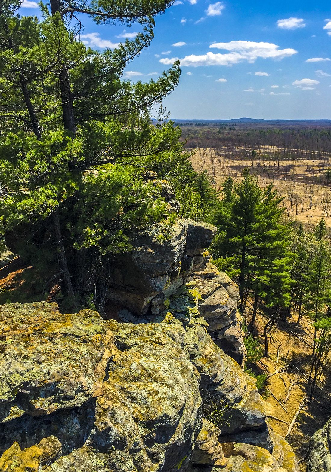 From Lone Rock At Quincy Bluff Sna In Friendship Wi Lone Rock Wisconsin Hiking
