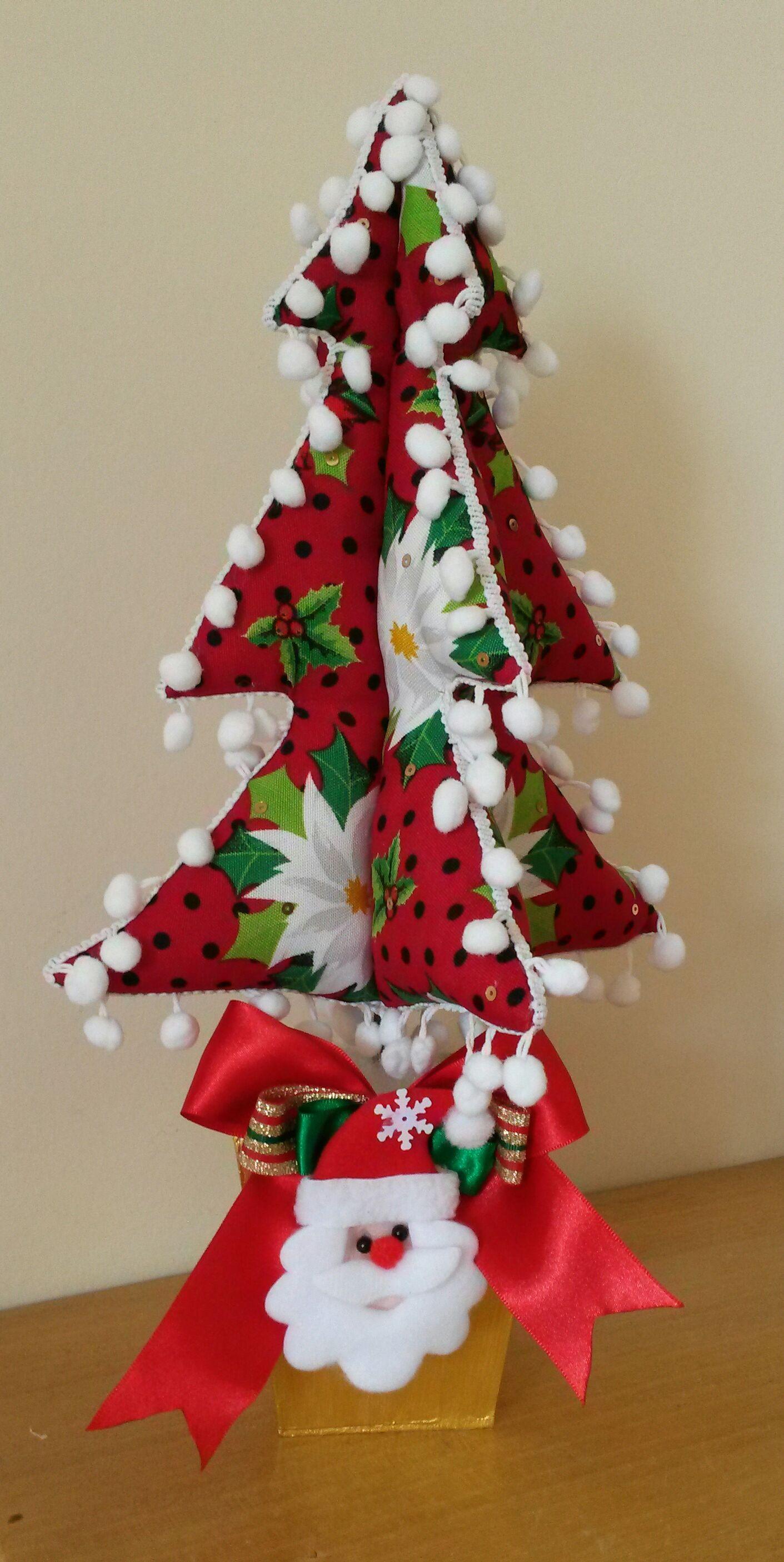 Árvore de Natal em patchwork.