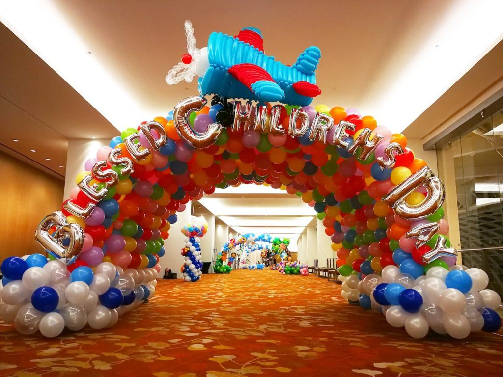 Children day balloon decorations large scale balloon display