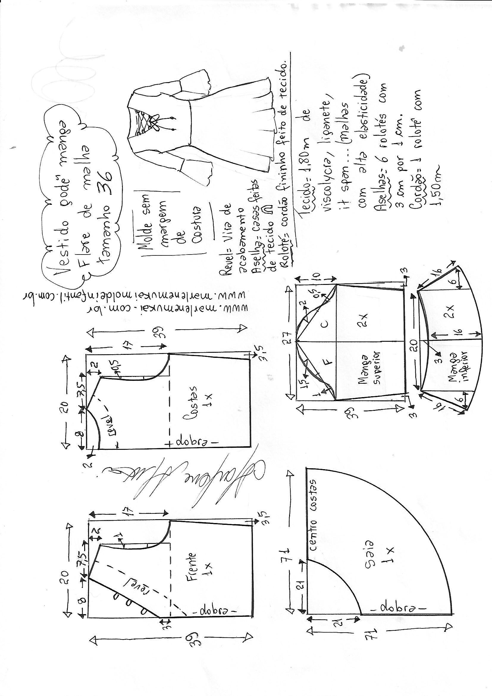 Pin de Li Montejo en Costura Vestidos | Costura, Patrones de ...