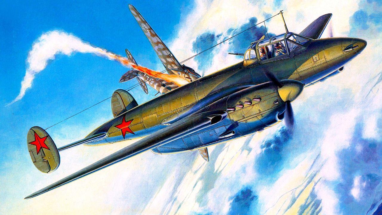 Пе - 2 против He - 111 | Военный самолет, Авиация, Искусство