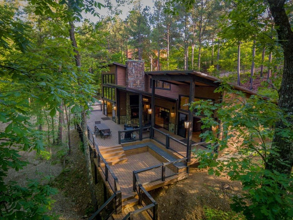 Broken Bow Vacation Cabins Rustic Hollow 2 Bedroom Accommodates Up To 6 Guests Pet Friendly Wifi Hot Tub Hot Tub Double Sliding Glass Doors Luxury Cabin