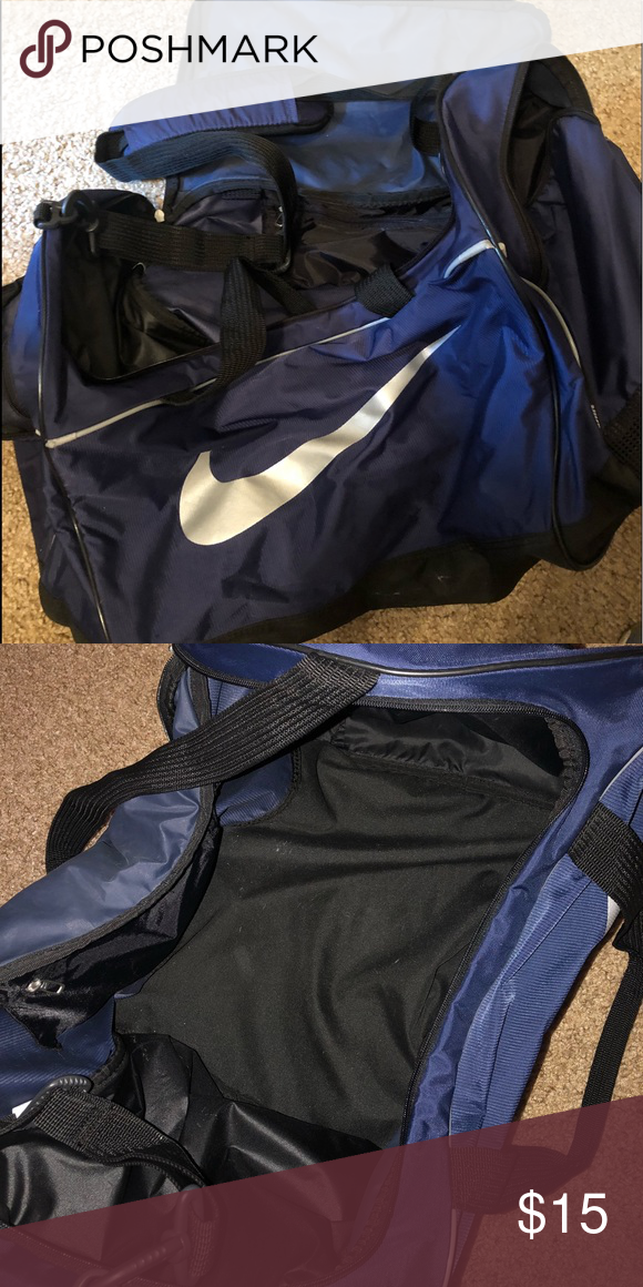 Nike Duffel Bag Navy Blue Nike Duffel Bag Nike Bags Travel Bags  2944c4456c77f