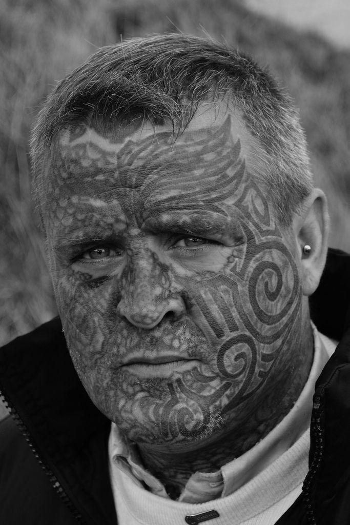 fee96038c 20 Awesome Face Tattoo Designs | face tattoo | Tattoo designs, Face ...