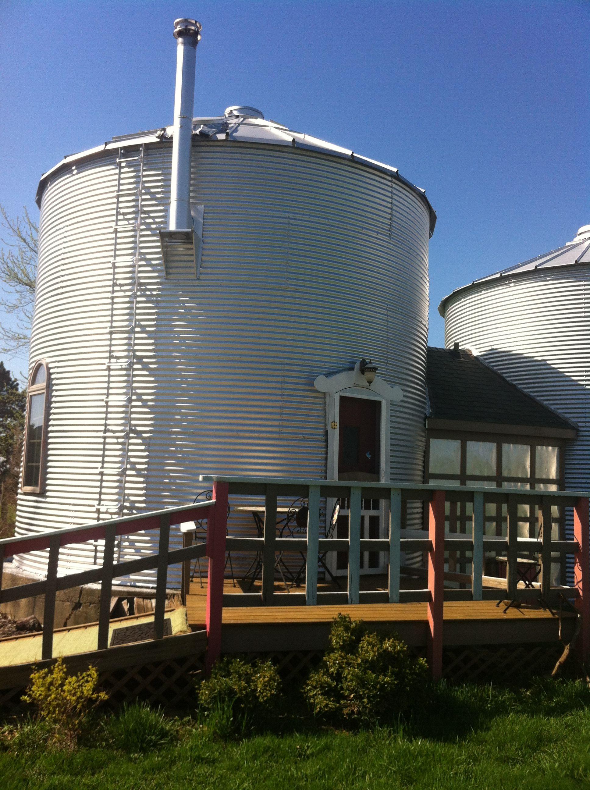 Our Grain Silo Cabin Marcia S B B Ottawa Illinois What Fun It