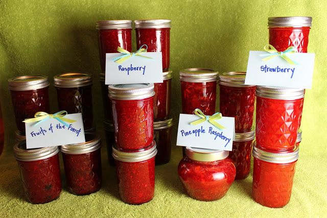 Strawberry-Pineapple and Fruits of the Forest Freezer Jam