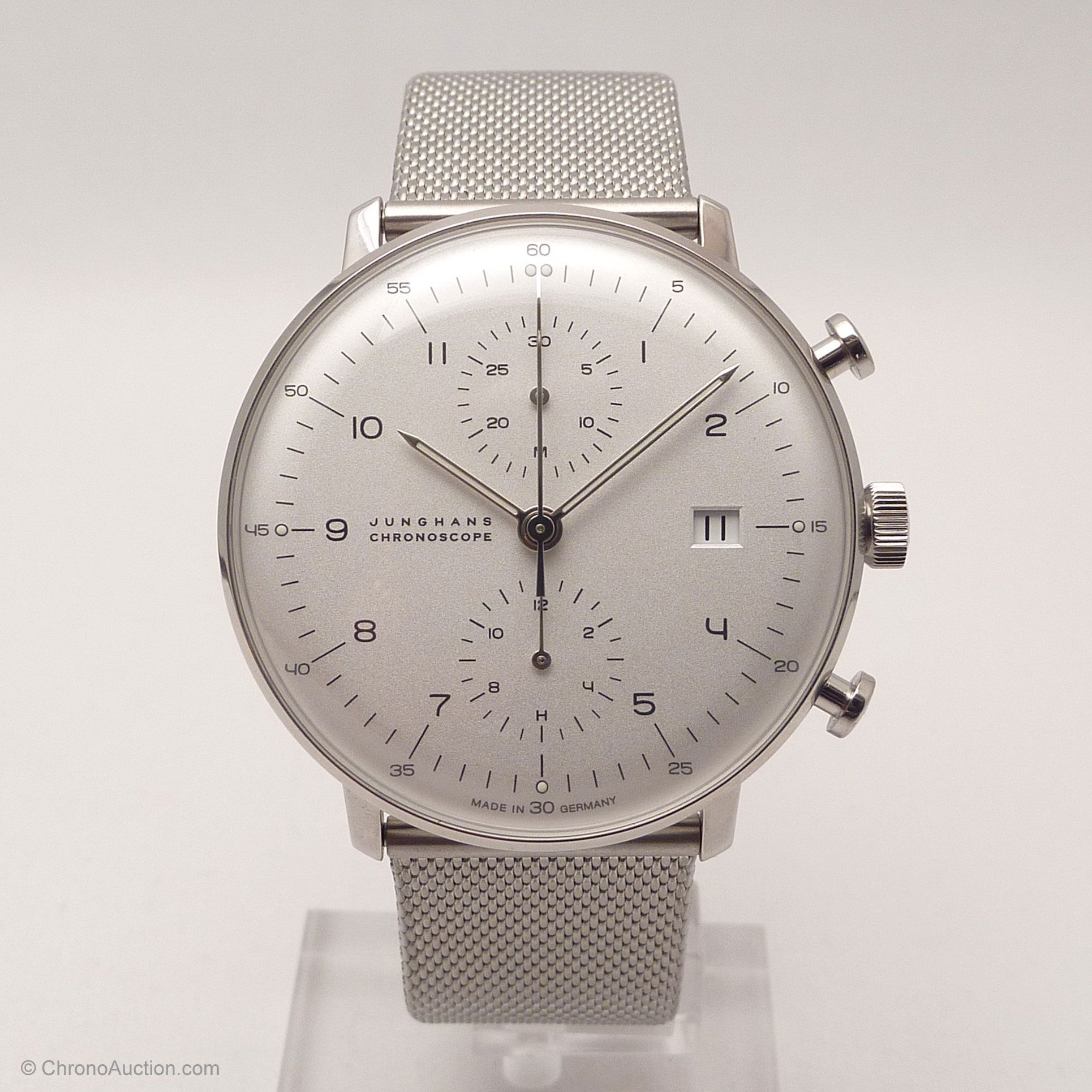 Junghans Uhr Referenz 027 4003 44 Max Bill Chronoscope Chronograph