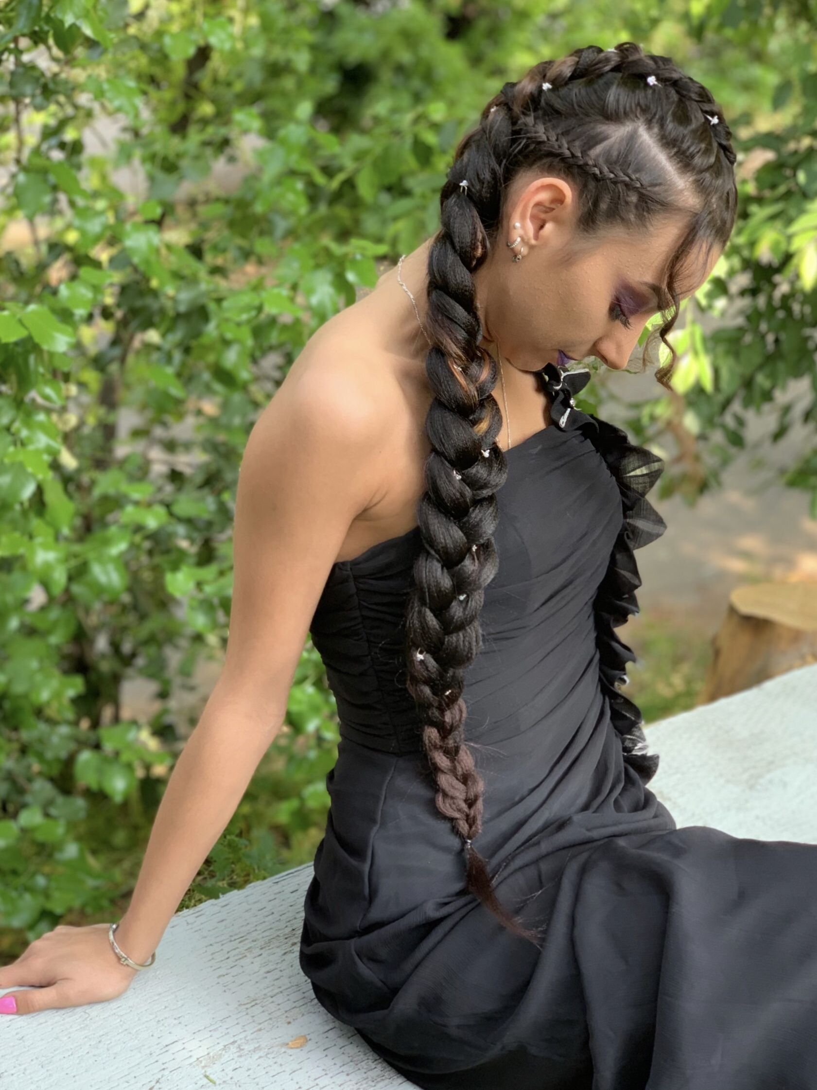 Prom Braided Hairstyle | Cute hairstyles shoulder length ...