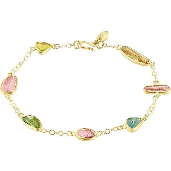Pippa Small 18kt Gold Bracelet ($1,565) ❤ liked on Polyvore featuring jewelry, bracelets, multicolor, multi color jewelry, colorful bangles, gold jewelry, dot jewelry and yellow gold bangle