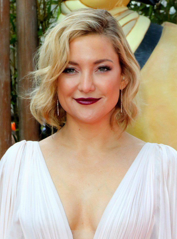 Wavy Bob Hairstyles Without Bangs : Best celebrity hairstyles and how to get the look kate hudson