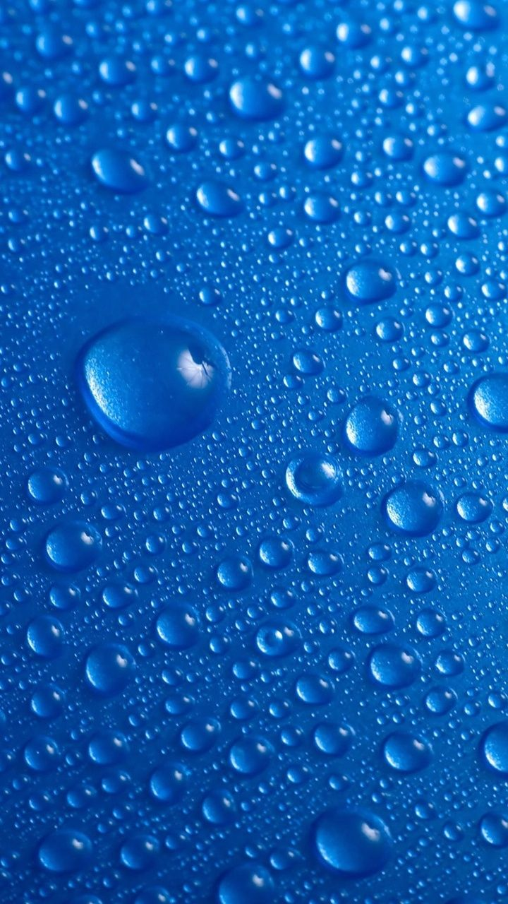 Blue Drops Macro Iphone Wallpapers At Mobile9 Janes Things In 2018