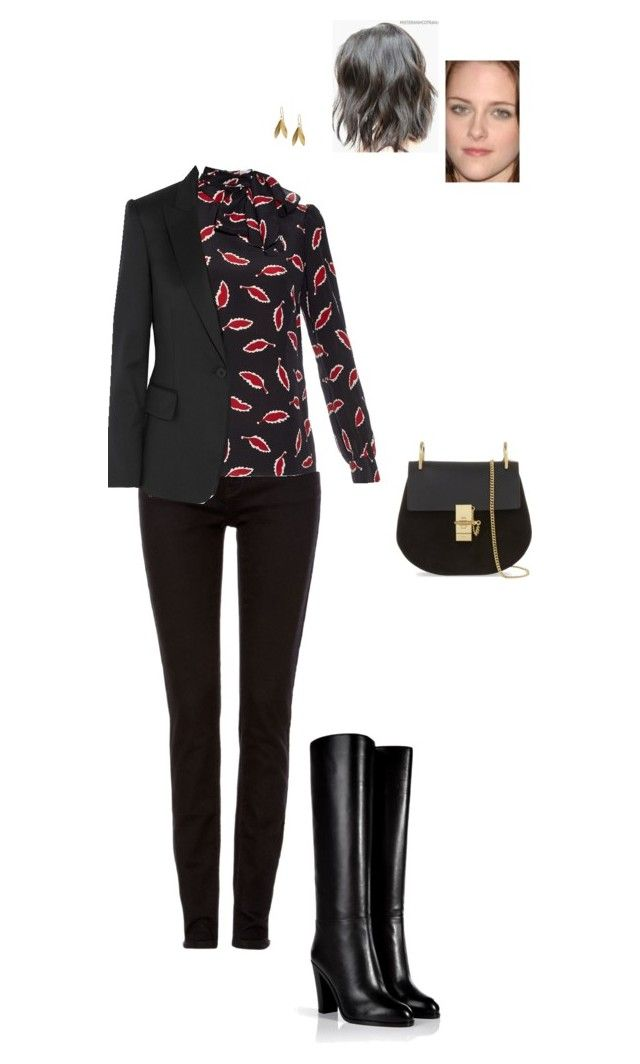"""""""Untitled #4305"""" by gracebeckett ❤ liked on Polyvore featuring Label Lab, Sergio Rossi, RED Valentino, STELLA McCARTNEY, Chloé and Catherine Zoraida"""