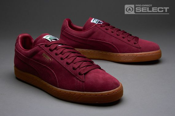 Puma Suede Classic Eco NM - Mens Select Shoes - Team Burgundy-Gold Foil-Gum cb2a782fb