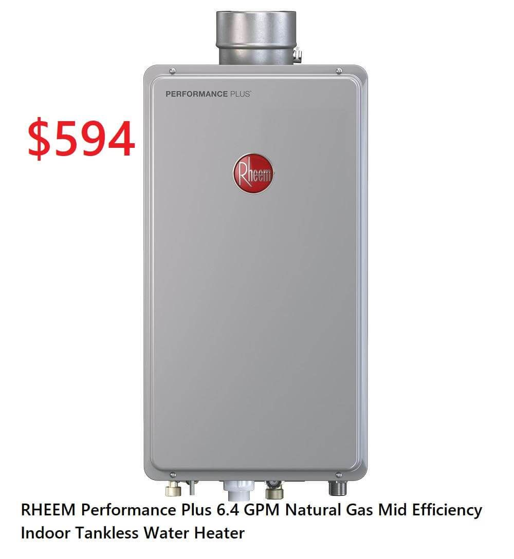 Rheem Performance Plus 6 4 Gpm Natural Gas Mid Efficiency Indoor Tankless Water Heater