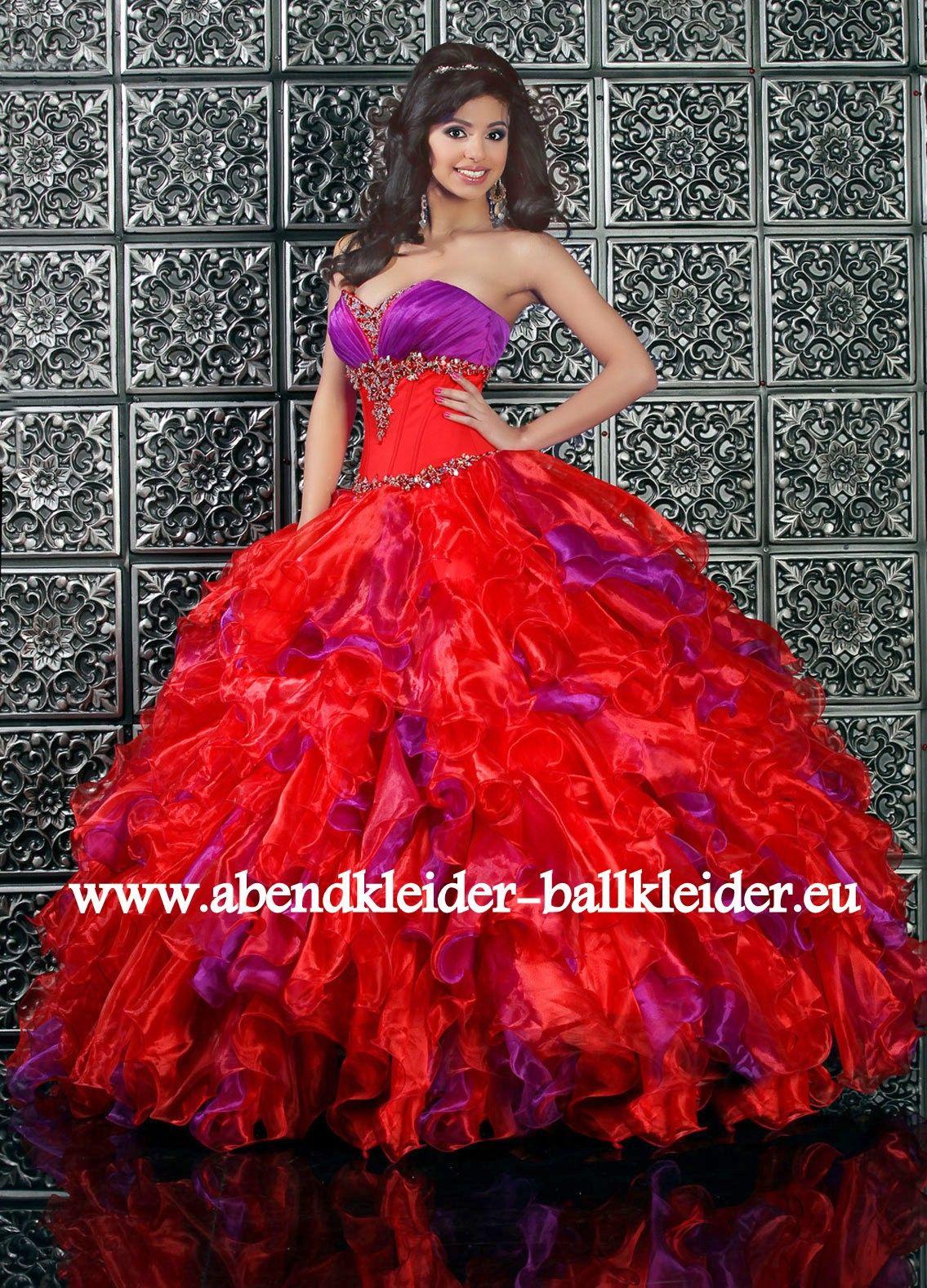 86430f312882e4 Duchesse Abendkleid Ballkleid in Rot Lila Online A Linie Abend - Ballkleid  Brautkleid in Hell Grün