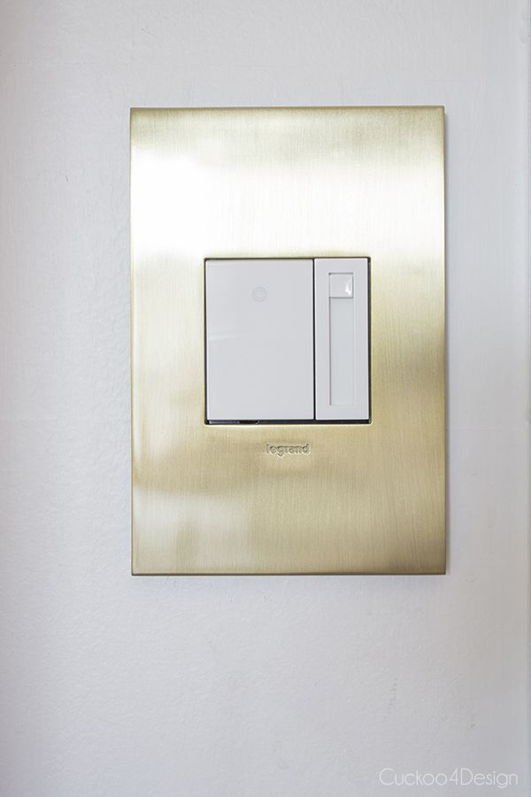 New brushed brass outlets and switches | Zelte