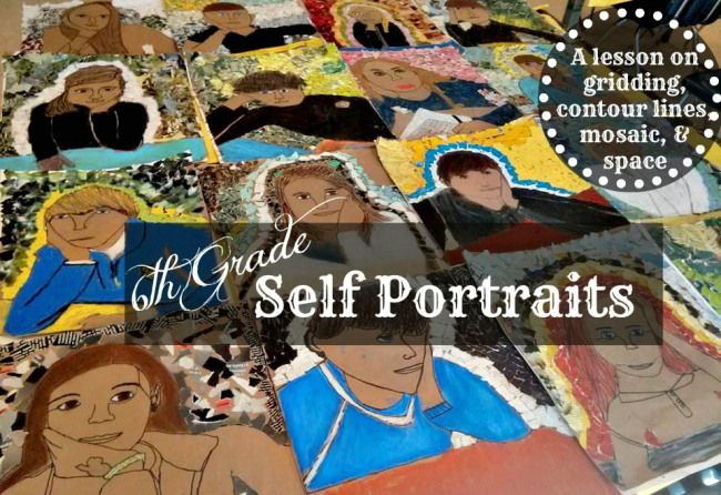project selfie 6th grade self portraits young art art lessons
