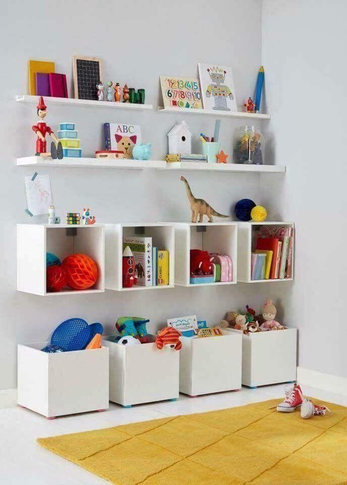 Aufbewahrungslösungen für Spiel- und Kinderzimmer #kinderzimmer #kidsrooms #aufbewahrung #boxen #kidbedrooms