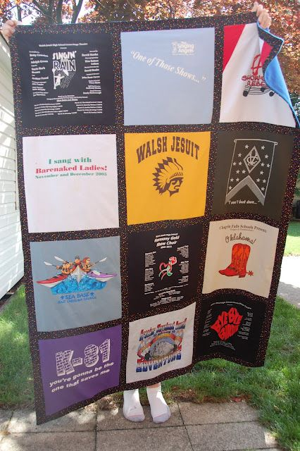 A wonderful Memory Blanket made by a blog reader.