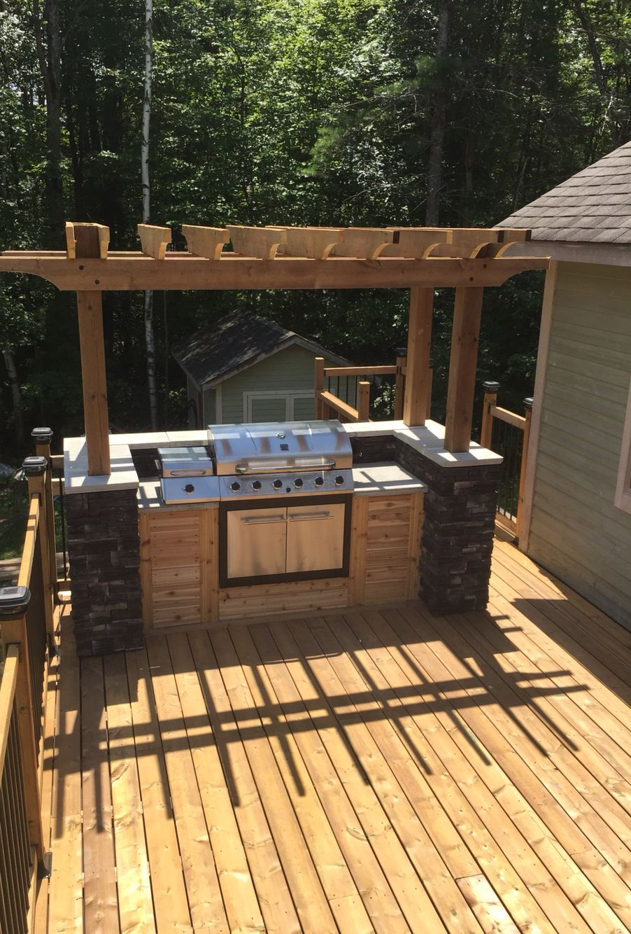10 Awesome Concepts Of How To Build Backyard Bbq Area Design Ideas Outdoor Grill Station Outdoor Kitchen Design Layout Outdoor Kitchen Design