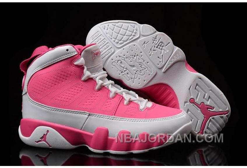 Air Jordan 9 GS Pink White Womens Shoes