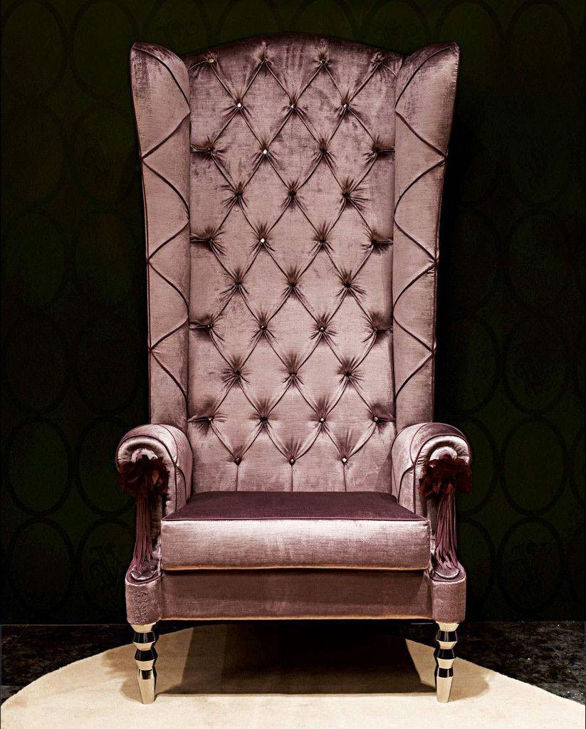 Giuliana Velvet High Back Chair  High back chairs, Fancy chair
