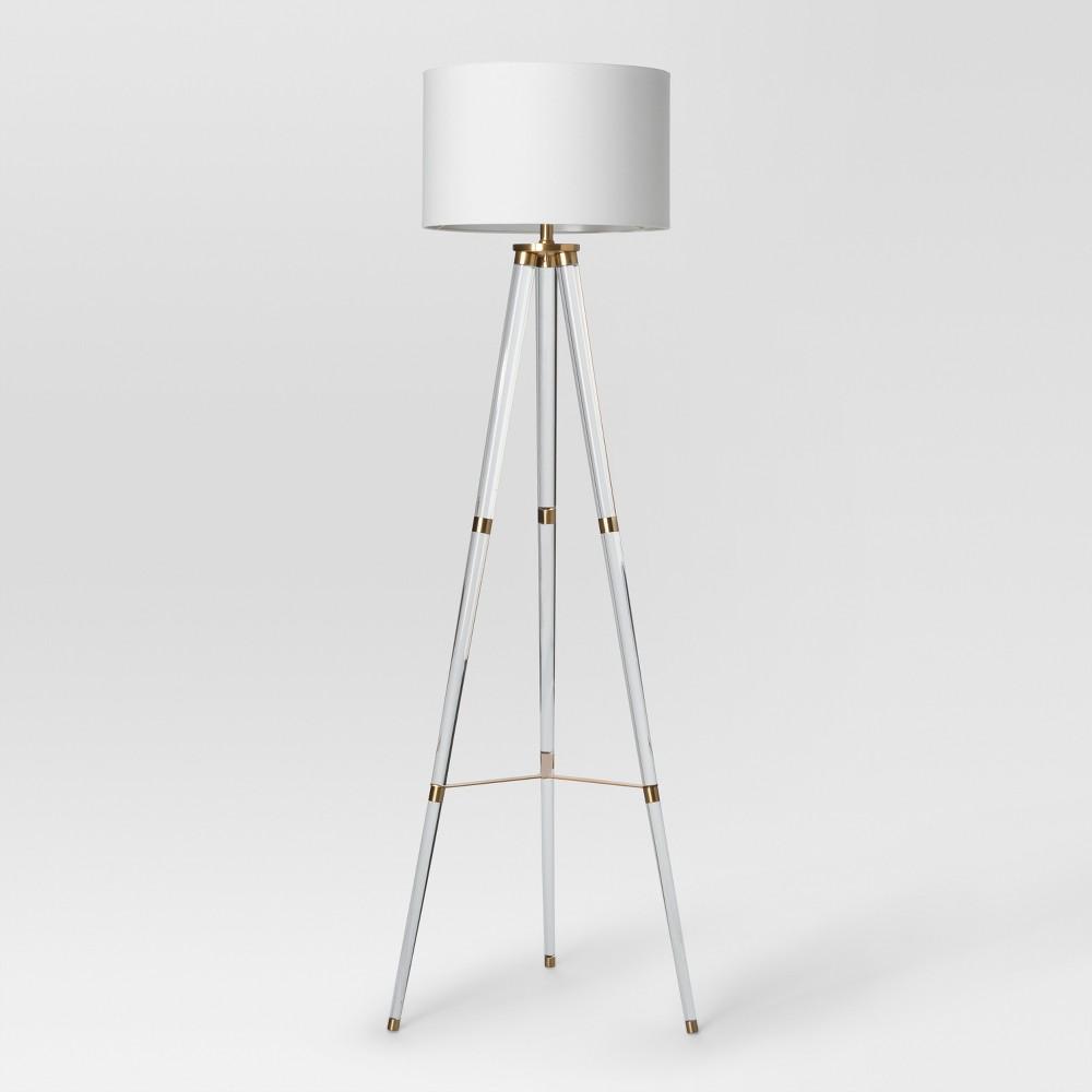 Wohnzimmerspiegel über couch delavan tripod floor lamp clear includes energy efficient light bulb