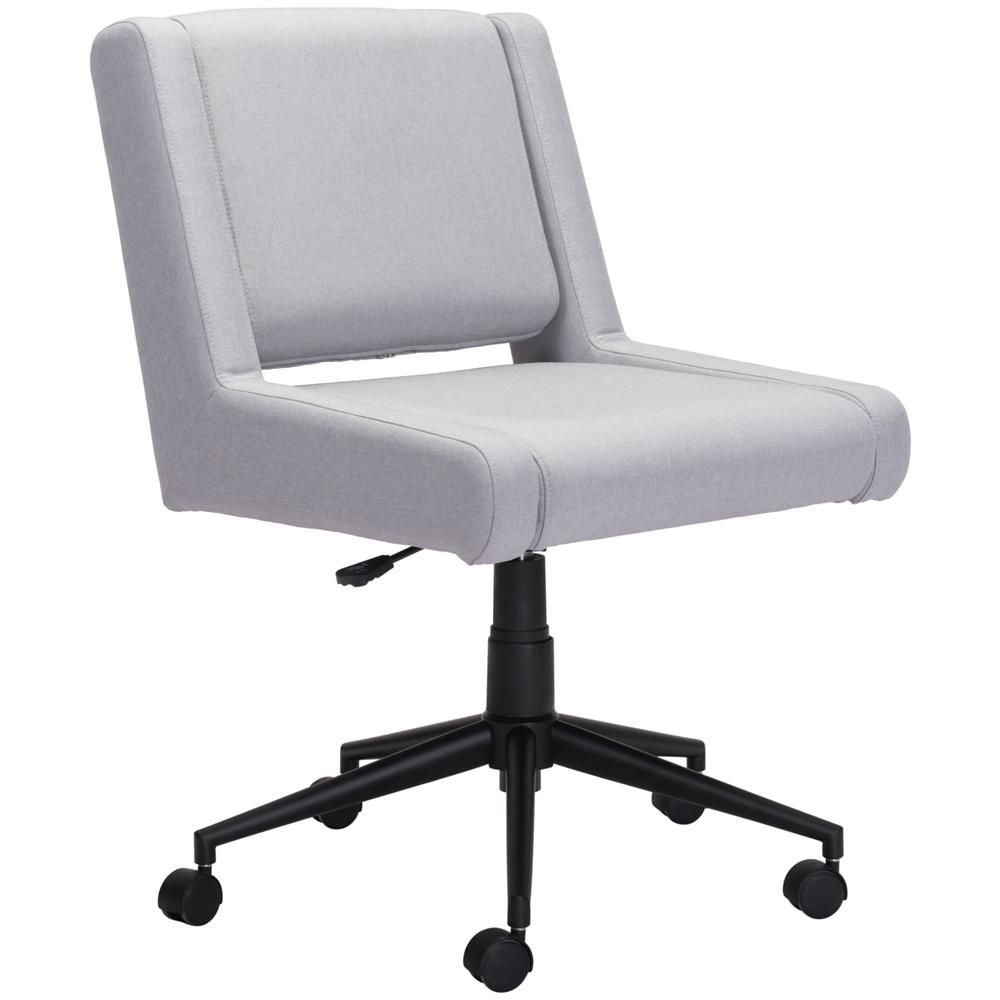 Carter Modern Classic Light Grey Upholstered Black Steel Base Office Chair In 2020 Executive Office Chairs Modern Office Chair Grey Desk Chair