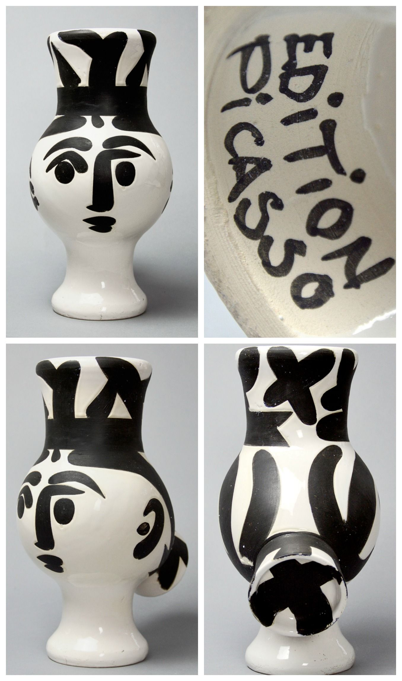 Pablo picasso original turned vase of white earthenware clay pablo picasso original turned vase of white earthenware clay engobe and paraffin decoration white reviewsmspy