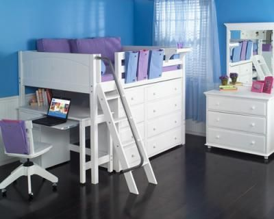 Our Mid Loft Bed Is Just The Right Height For A Growing Child With 42.5u201d