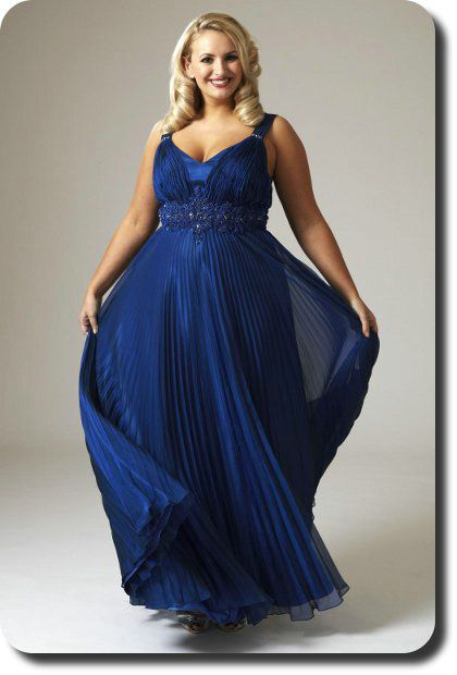 Plus size blue wedding dresses royal blue bridesmaid for Blue wedding dresses plus size