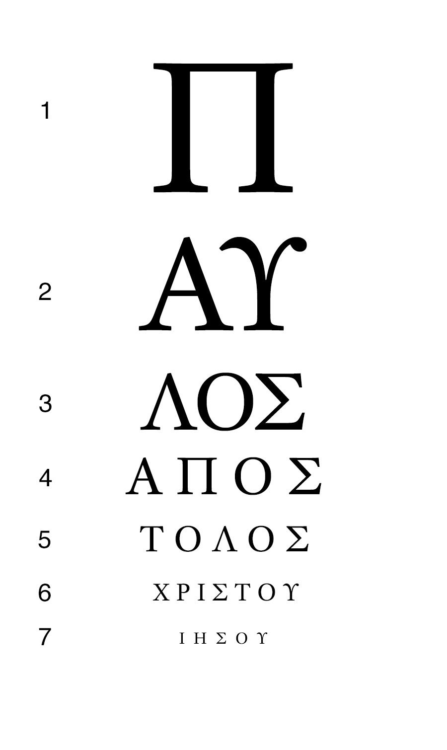Eye letter chart gallery chart design ideas if you can read all seven lines of this eye chart you can read the if nvjuhfo Choice Image