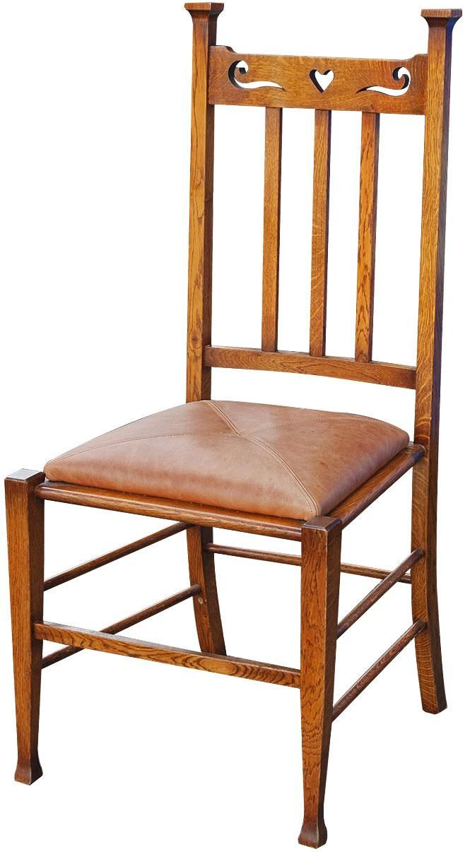 Solid Oak Arts And Crafts Style Dining Chair, Dining Chairs From Brights Of  Nettlebed