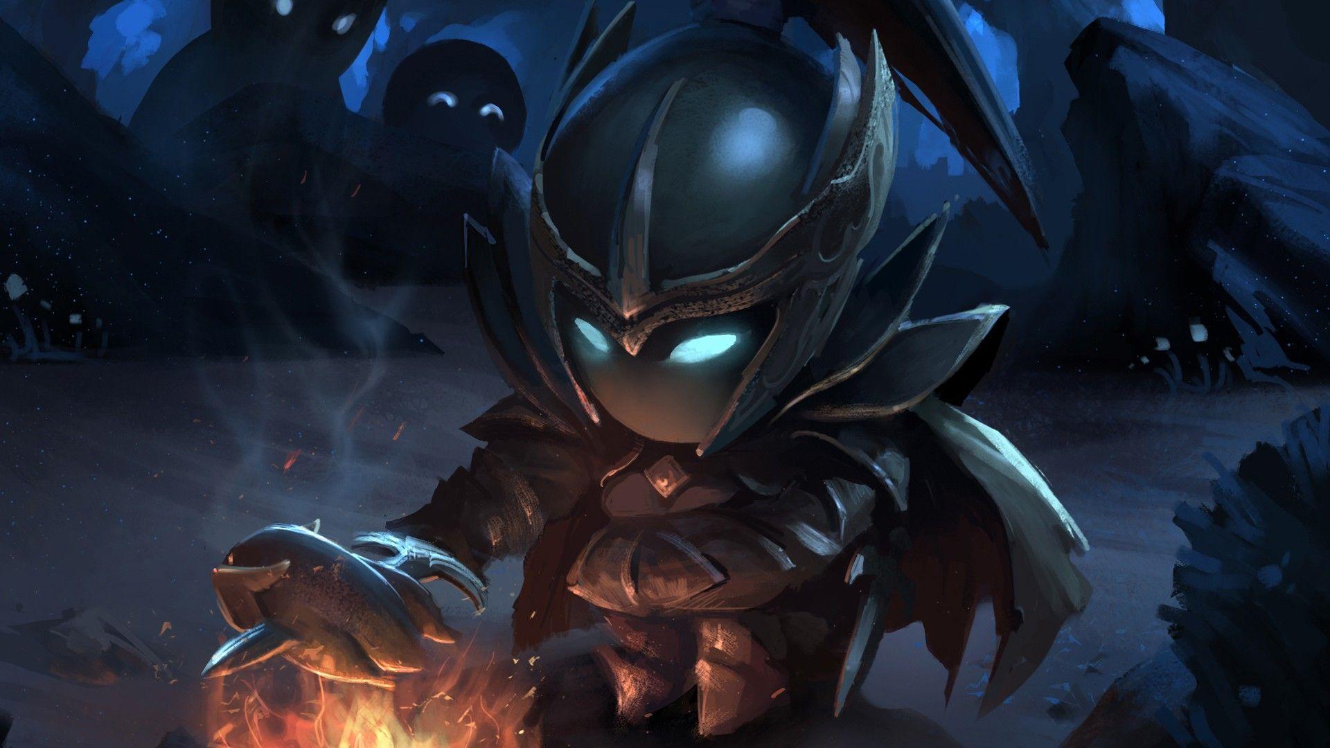 Download Wallpaper Dota 2 Phantom Assassin Mortred Girl Chibi Art Fire