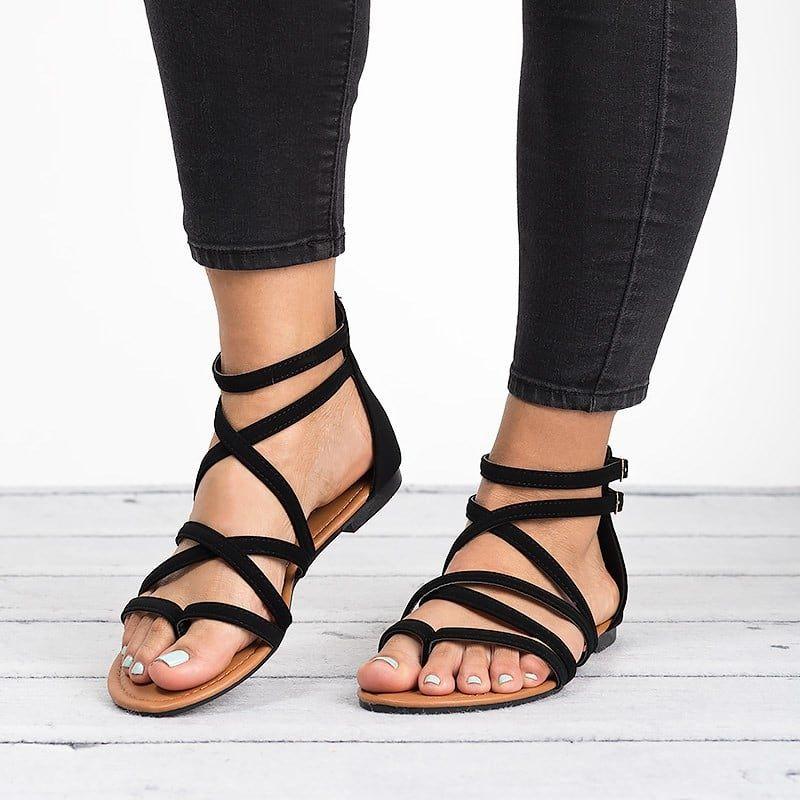73ee104de Casey Strappy Flat Sandals in 2018