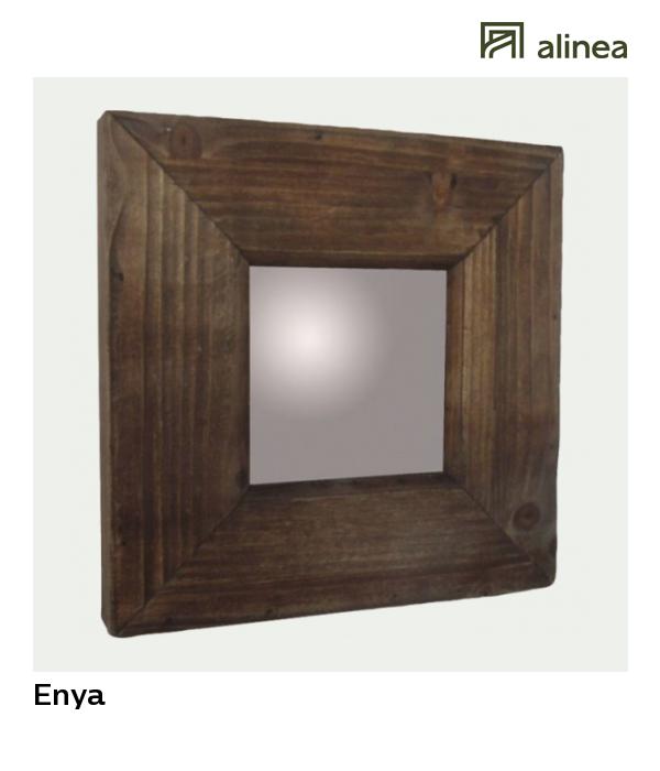 alinea : enya miroir carré en bois 25x25cm déco décoration murale ...