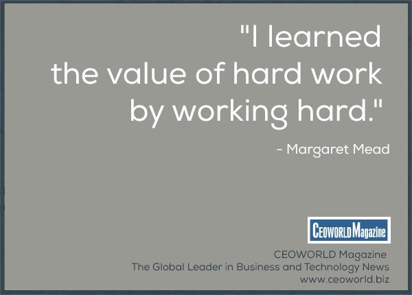 The value of hard work