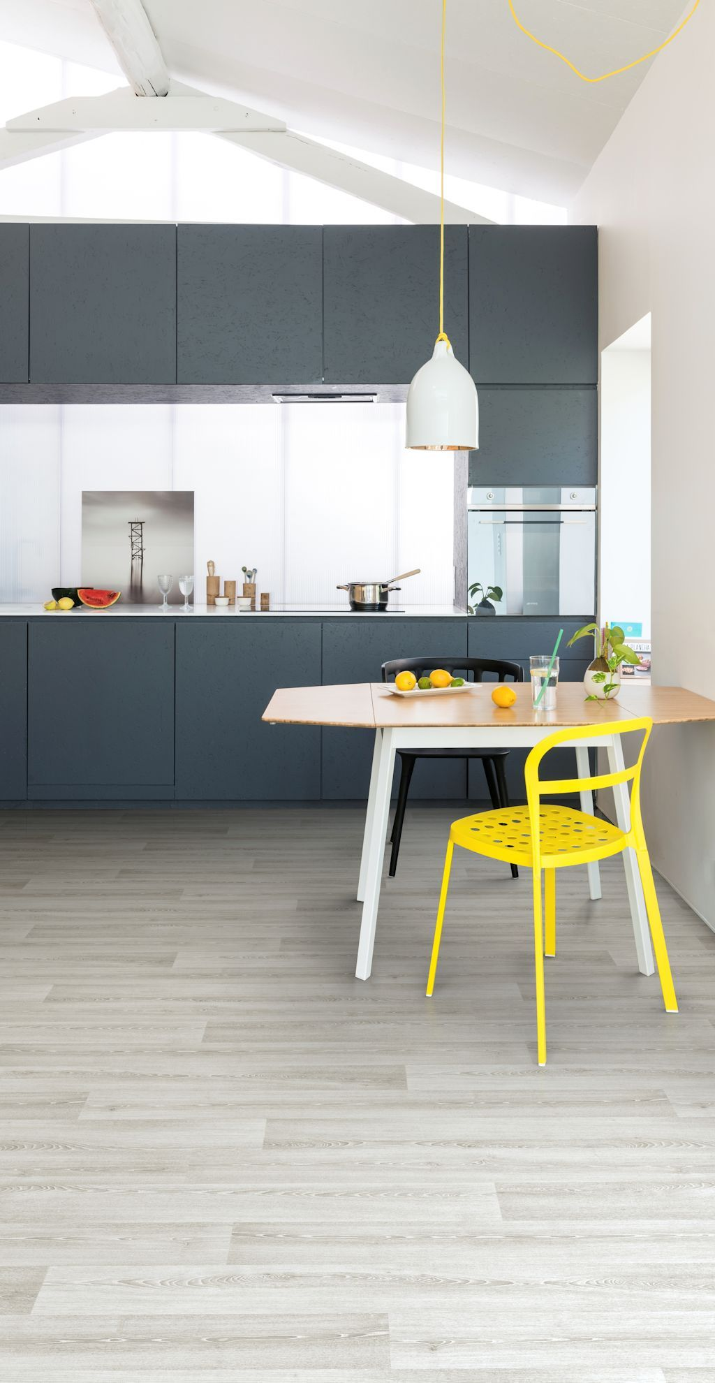 Kitchen featuring Secura PUR luxury vinyl sheet flooring