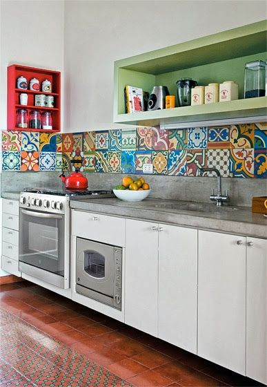 Ladrilho Hidráulico Colorido na Decoração!!! | Cucine e Cucina