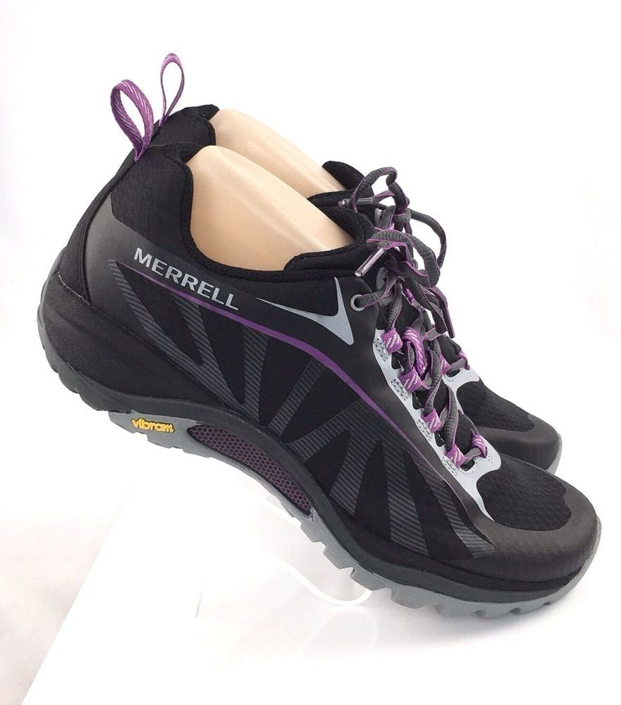 cd10a7ee6253 Merrell Siren Edge Hiking Trail Walking shoes Womens 9.5M Black Purple  J35750  Merrell  WalkingHikingTrai  running  running