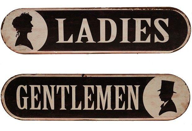 Metal Bathroom Signs Vintage Bathroom Signs For The Bedroom Bath