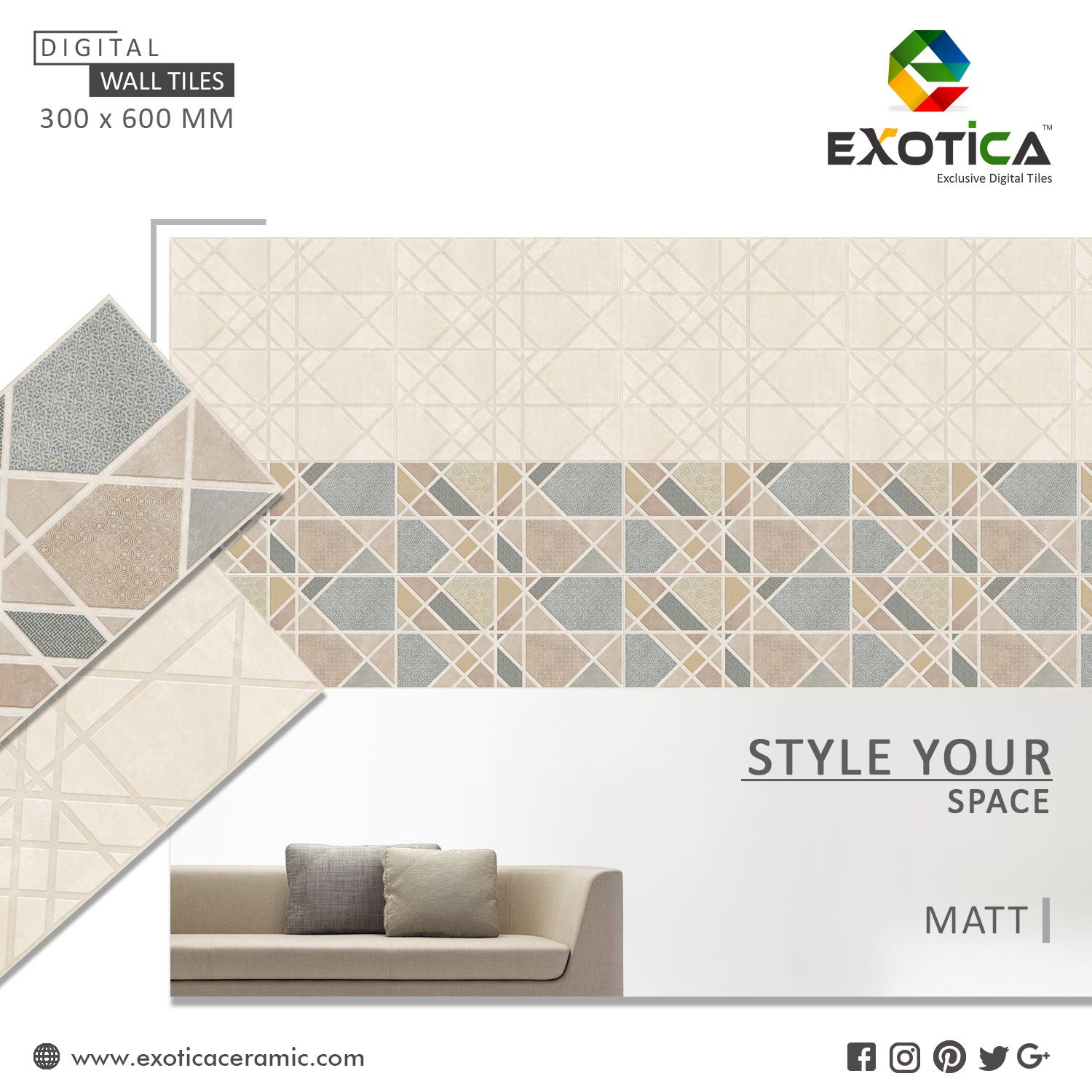 Digital Wall Tiles basically made with very low porosity which make ...