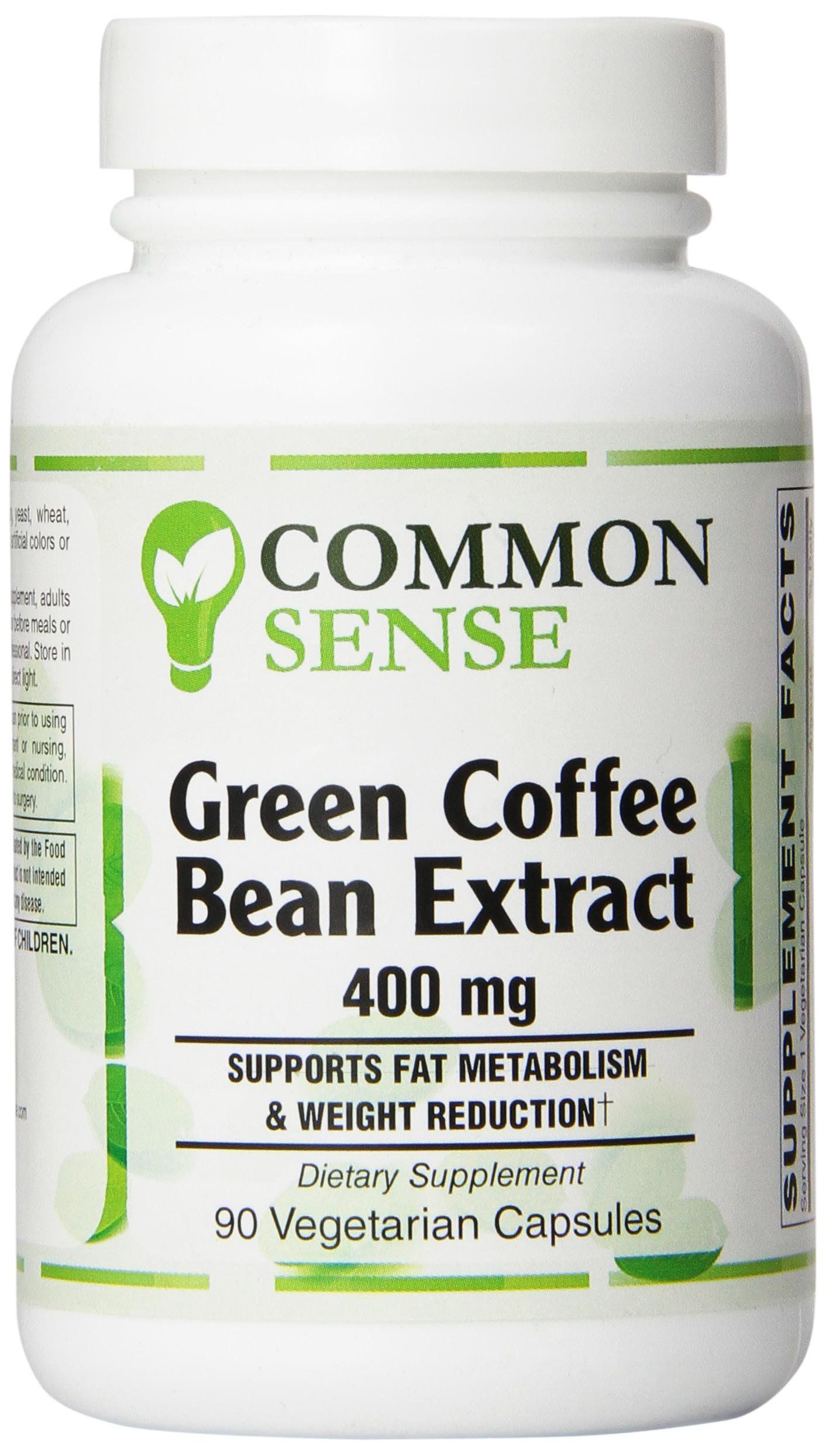 Common Sense Green Coffee Bean Extract Capsules 90 Count Want