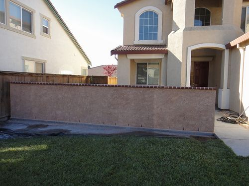 Front Yard Block Wall Finished By A Townsend Concrete Via Flickr Brick Yard Wall Finishes Block Wall