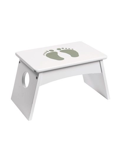 Vertbaudet - Step stool GREY LIGHT SOLID WITH DESIGN+WHITE ...