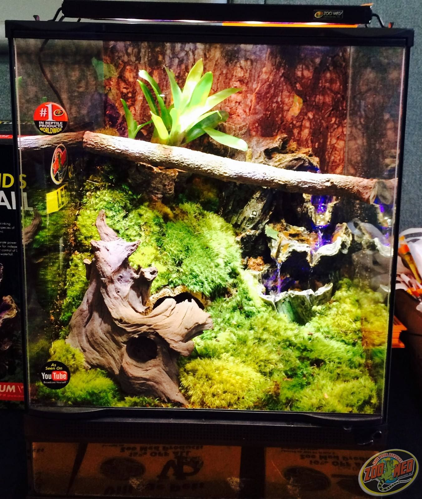 A custom zoo med habitat that was raffled at the august