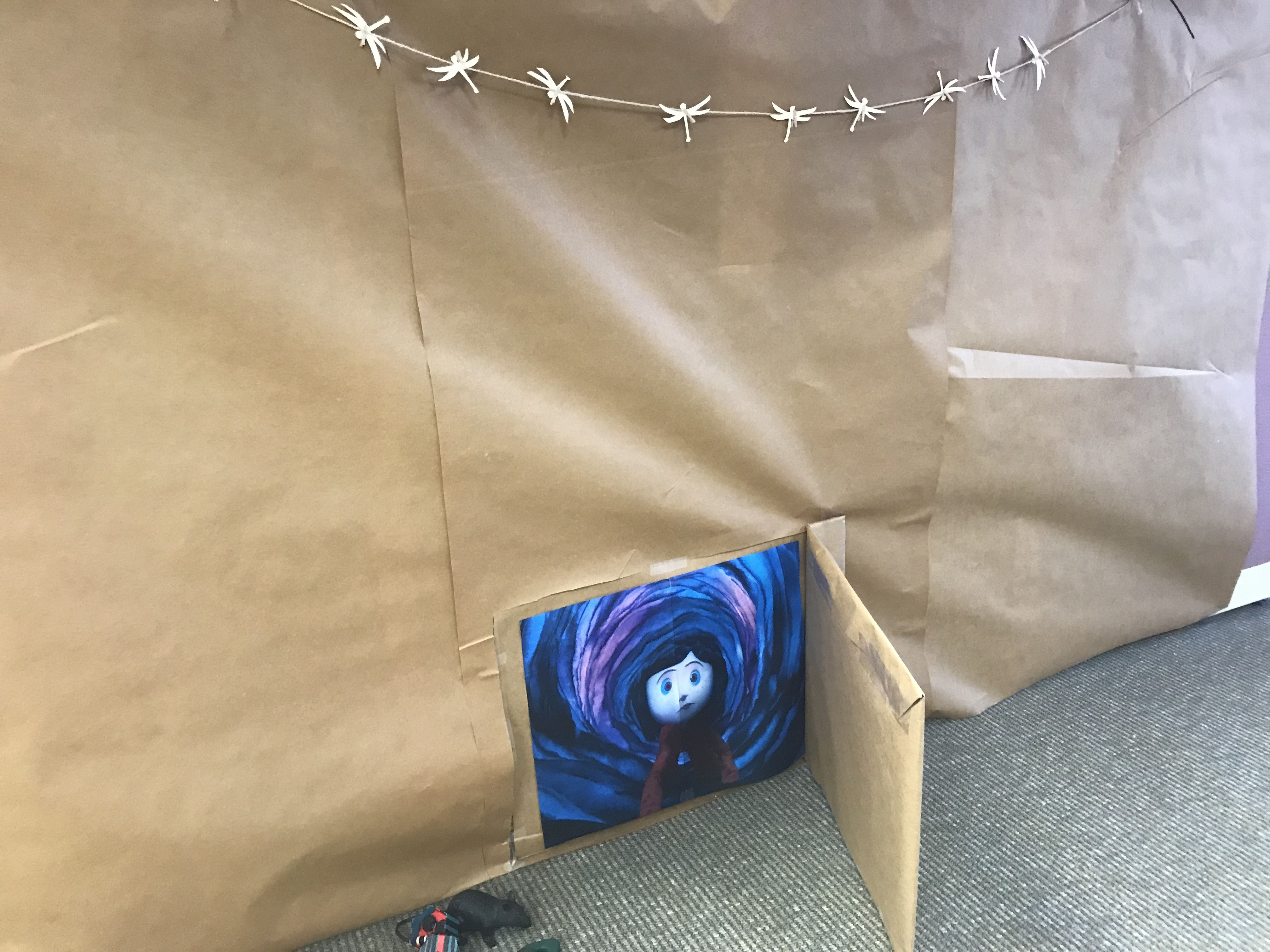 Coraline crawling through the little door tunnel & Coraline crawling through the little door tunnel | things i made or ...