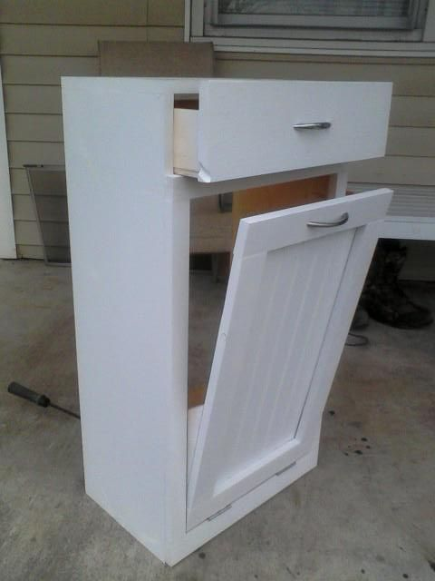 diy pull out trash can in a kitchen cabinet amazing idea trash bins ana white and tilt. Black Bedroom Furniture Sets. Home Design Ideas
