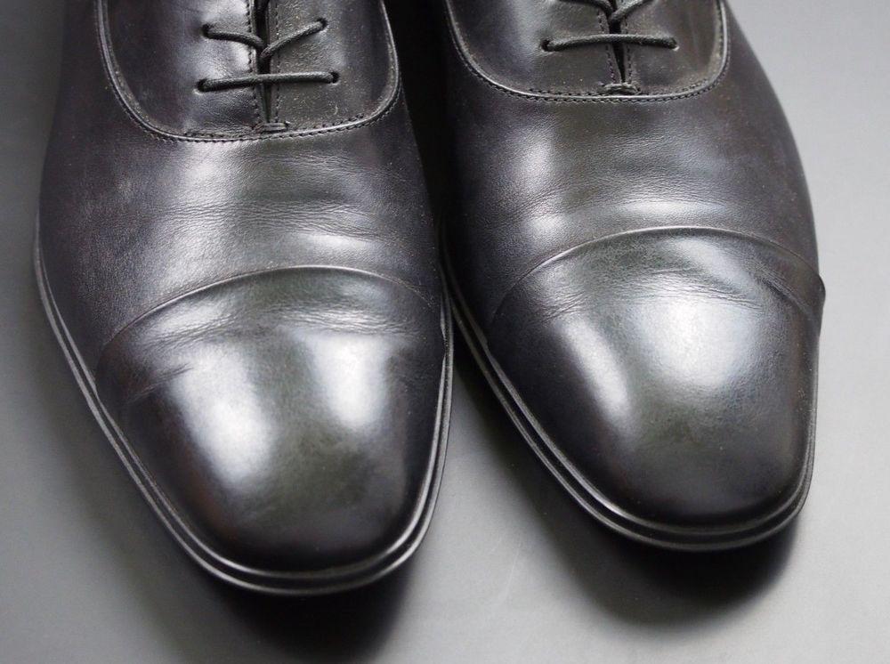 5dd8c7d62768f Salvatore Ferragamo Rain Lux Black Cap Toe Made In Italy Oxford ...